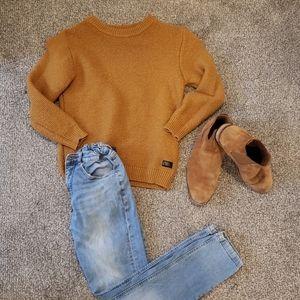 Zara Boys Carmel Pull Over Sweater size 11/12